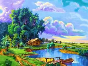 Cartoon Daydreaming Nature Wallpaper