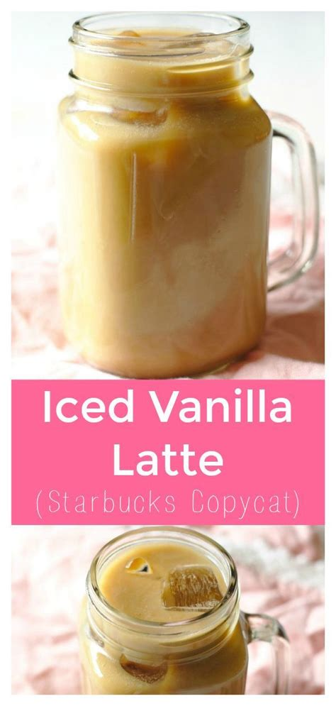 To make a vanilla frappuccino add your ice, coffee, unsweetened almond milk (or preferred dairy milk), heavy cream, sweetener, and vanilla to a blender and blend for. Iced Vanilla Latte - Copycat Starbucks iced vanilla latte that is a fraction of the pr ...