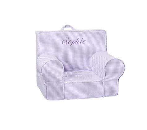 my anywhere chair slipcover lavender gingham