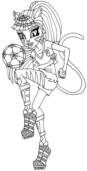 coloriage monster high toralei  imprimer