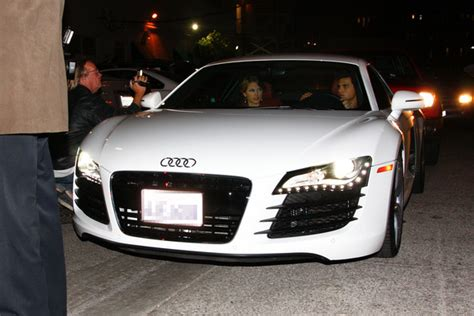 Taylor Swift & Taylor Lautner in the white Audi R8 this ...