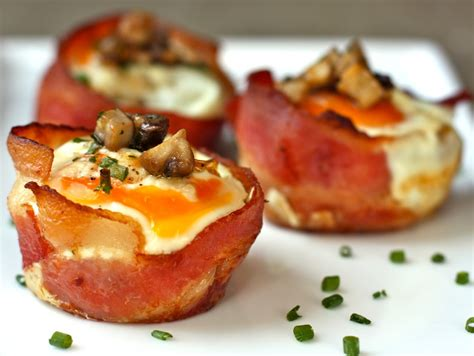 bacon  egg cups  cremini mushrooms daisys world