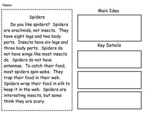 main idea passages supports common core nonfiction core standards and ideas