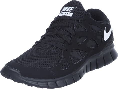 nike free run 2 shoes black white
