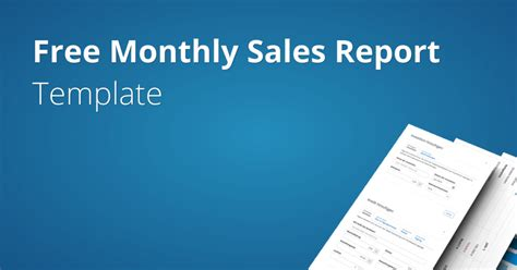 monthly sales report template fundivo