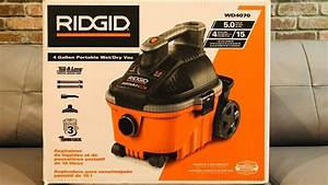 Purchased the Rigid 4 gallon, 5.0 horsepower shop vac. - YouTube