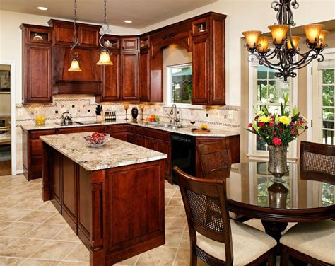 cherry kitchen cabinets with granite countertops 17 best images about gorgeous granite kitchens on 9416