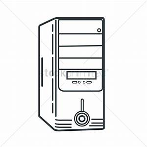 Computer case Vector Image - 1494574 | StockUnlimited