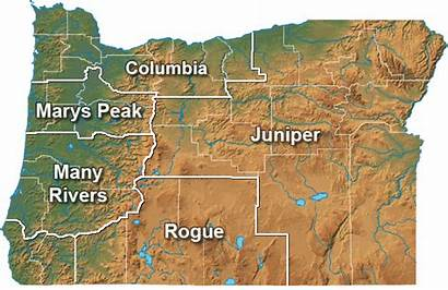 Oregon Map Chapter Sierra Club Groups Juniper