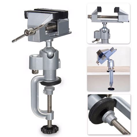 vise work bench swivel  rotating clamp tabletop deluxe