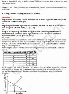 Ncert Solutions For Class 12 Micro Economics Chapter 9