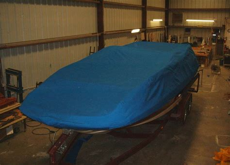 Pontoon Boat Cover With Drawstring by Custom Boat Covers