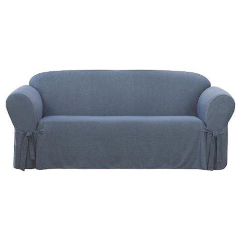 denim sofa cover sure fit sofa slipcover denim indigo target