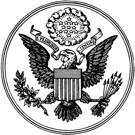 great seal   united states clipart