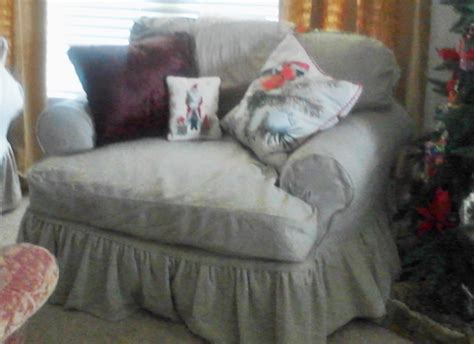 slipcovered chair and a half chair and a half custom made slipcover by lharmondesign on