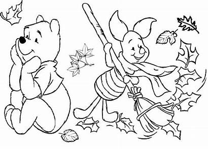 Coloring Pages Fall Thanksgiving Autumn Disney