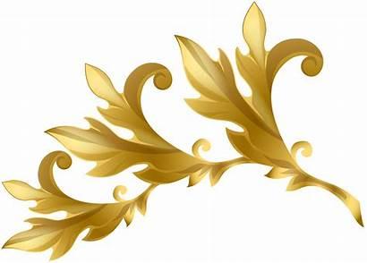 Gold Transparent Decorative Elements Clipart Element Beach