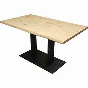 Table Chene Massif : table bistro ch ne massif trunk pieds m tal ~ Melissatoandfro.com Idées de Décoration