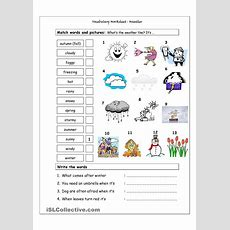 Vocabulary Matching Worksheet  Weather  Teachers  Spanish Worksheets, Spanish Vocabulary