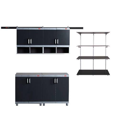 home depot garage organization rubbermaid rubbermaid fasttrack garage laminate 4 cabinet set
