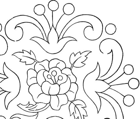 The blank version makes a good template or just a fun outline for a younger child to practice his or her letters on. Vintage Floral Embroidery Pattern! - The Graphics Fairy