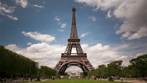 paris timelapse  eiffel tower stock footage video