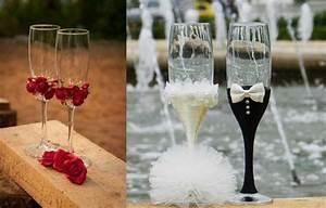 Copas de boda: Decoración para el brindis perfecto Ella Hoy