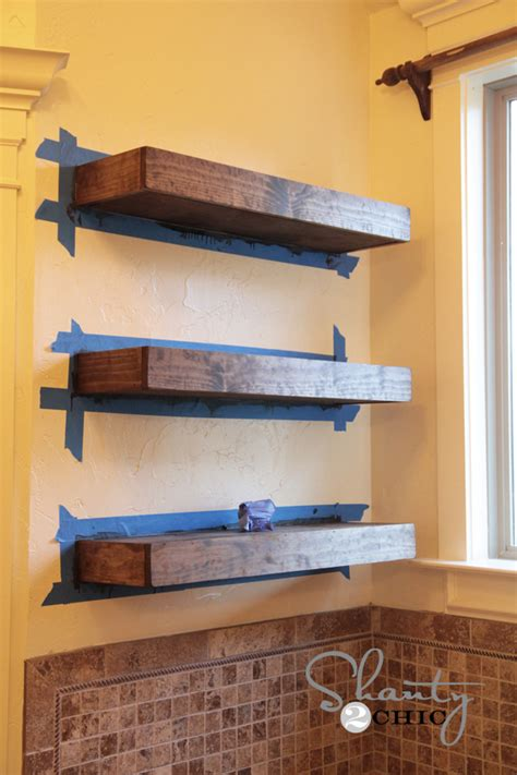 how to build a floating shelf easy diy floating shelves shanty 2 chic
