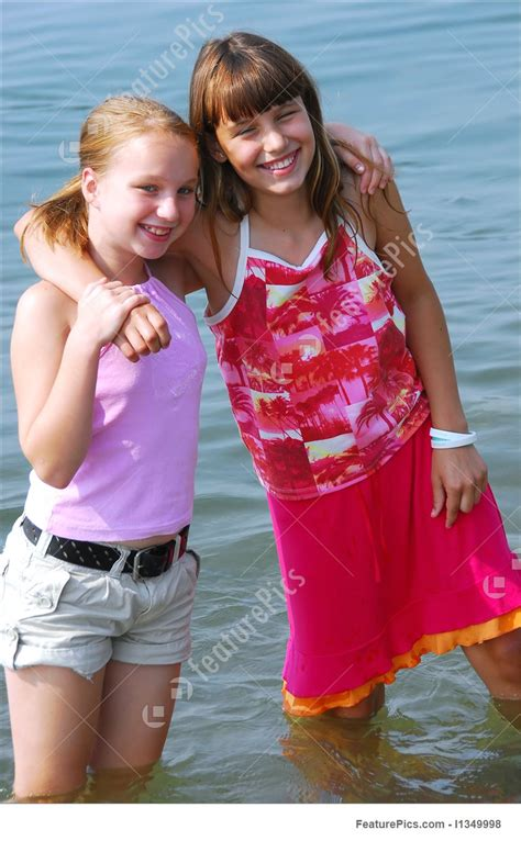 Two Preteen Girls Stock Picture I1349998 At Featurepics