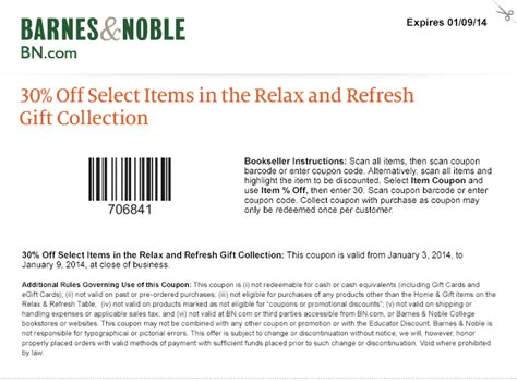 Barnes And Noble Printable Coupons
