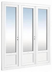 porte fenetre en pvc blanche l 180 x h 215 cm brico depot With porte fenetre pvc brico depot