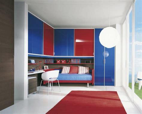 chambre enfant rouge en  idees deco modernes