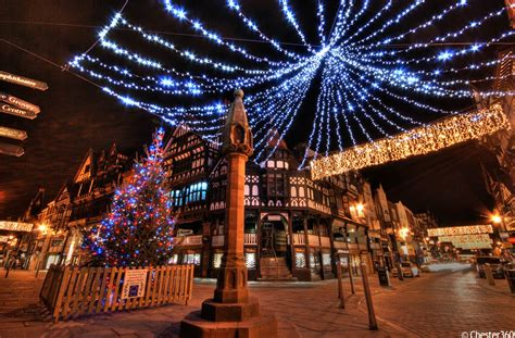 photo of the christmas lights in chester