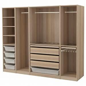 Pax Ikea Schublade : pax wardrobe white stained oak effect 250x58x201 cm ikea ~ Markanthonyermac.com Haus und Dekorationen