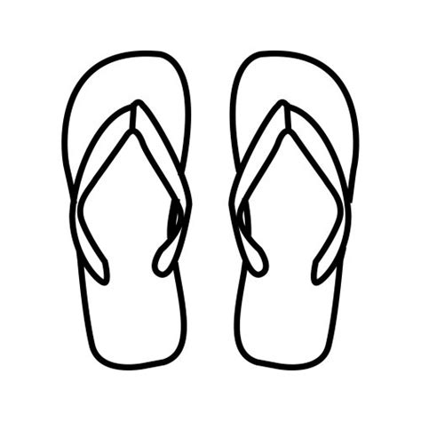flip flops coloring pages 為孩子們的著色頁 flipflops free coloring pages