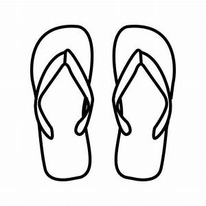flipflops free coloring pages coloring pages With flip flops