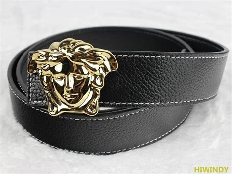 Versace Collection Medusa Patent Leather Belt