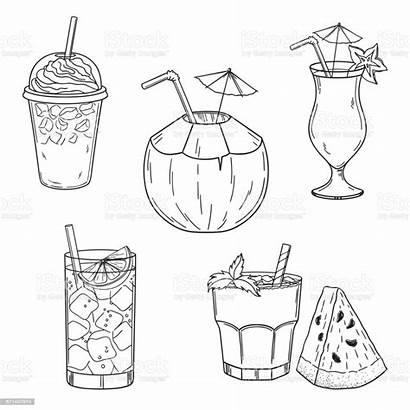 Drinks Cold Summer Drink Cocktail Bar Illustration