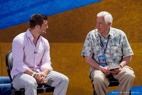 Tim Tebow And Dr David Jeremiah Photo By Steve Carroll