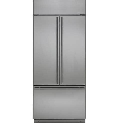 zipsnhss monogram  built  french door refrigerator  european style handles