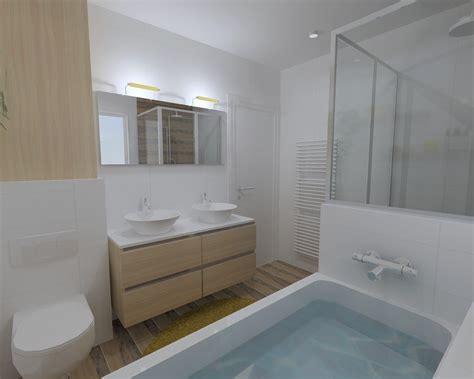 r 233 novation salle de bain dans les tons chaleureux 224 rennes pac 233 bains et solutions
