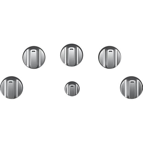 knobs  cafe gas cooktops set   brushed stainless cxcgkpmss  buy