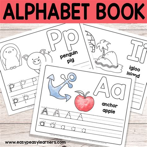 printable alphabet book alphabet worksheets  pre