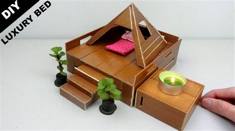 Diy Miniature Luxury Doll Bed #8  Wooden Crafts Ideas