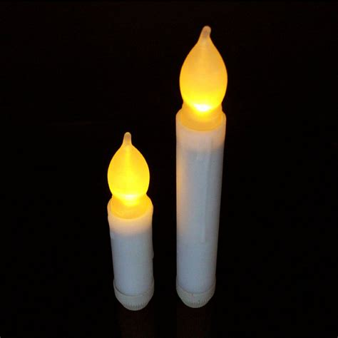 liander set of 24 yellow flameless ivory mini wax dipped