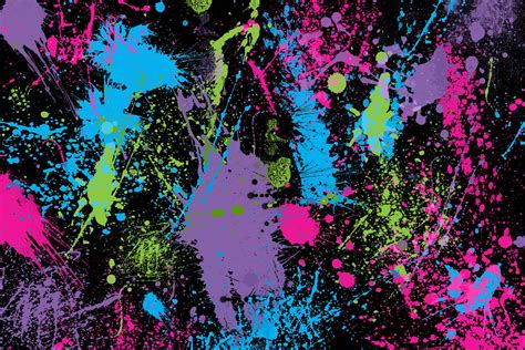 neon paint colors paint splatter wallpapers wallpaper cave