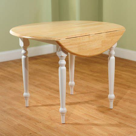 drop leaf dining table whitenatural walmartcom