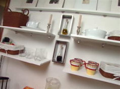 clever kitchen ideas open shelves hgtv