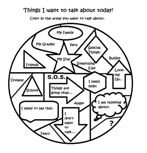 free therapy counseling activity worksheet