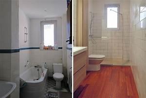 Salle De Bain Avant Après : avant apr s transformation d 39 une salle de bains toute en ~ Mglfilm.com Idées de Décoration